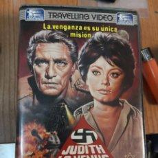 Cine: VHS • JUDITH LA VENUS DE LA IRA (1966) DANIEL MANN - SOFÍA LOREN [TRAVELLING VIDEO]. Lote 196882845