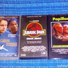 Cine: VENDO 3 PELÍCULAS VHS (CADENA PERPETUA - JURASSIC PARK - PAPILLON), VER MAS FOTOS.. Lote 197150347