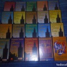Cine: VENDO COLECCIÓN COMPLETA DE 18 CINTAS VHS (SEMANA SANTA EN LA CATEDRAL DE SEVILLA), MAS INFORMACIÓN.. Lote 197554562