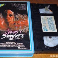 Cine: JUEVES SANGRIENTO - TERROR - VHS. Lote 198088766