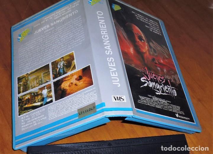 Cine: JUEVES SANGRIENTO - TERROR - VHS - Foto 2 - 198088766