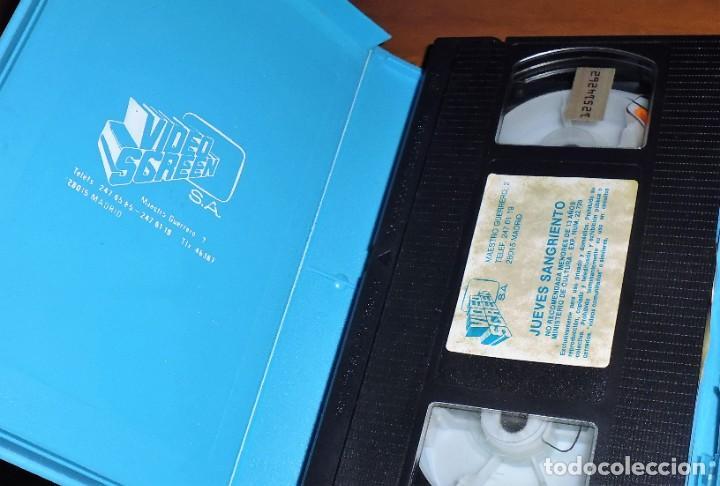 Cine: JUEVES SANGRIENTO - TERROR - VHS - Foto 3 - 198088766