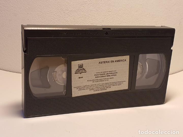 Cine: ASTERIX EN AMÉRICA PELICULA VHS AÑO 1995 - Foto 2 - 180109006