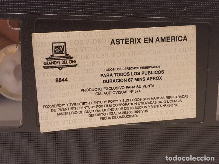 Cine: ASTERIX EN AMÉRICA PELICULA VHS AÑO 1995 - Foto 3 - 180109006