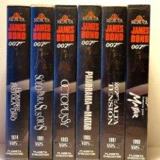 Cine: JAMES BOND 007 LOTE 6 PELICULAS VHS. Lote 198284508