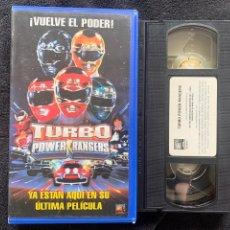 Cinema: TURBO POWER RANGERS PELÍCULAS VHS. Lote 198713726