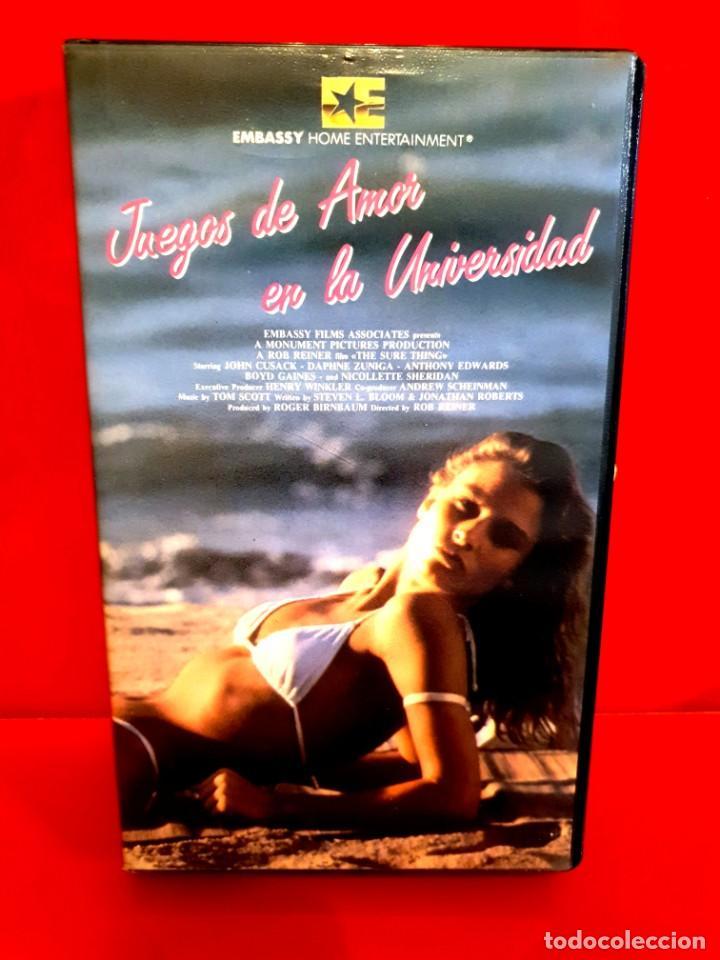JUEGOS DE AMOR EN LA UNIVERSIDAD (1985) - ROB REINER, JOHN CUSACK (Cine - Películas - VHS)