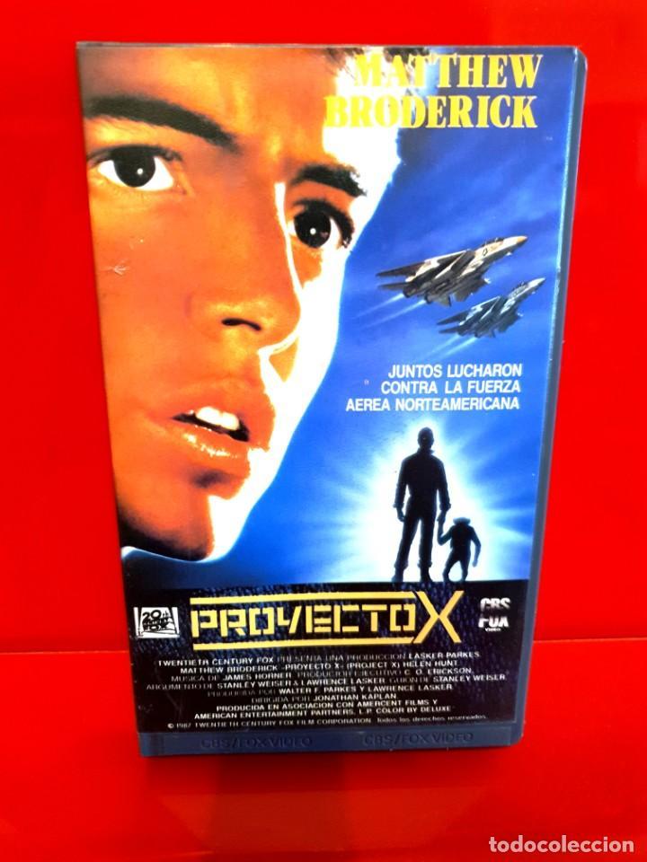 PROYECTO X (1987) - JONATHAN KAPLAN, MATTHEW BRODERICK (Cine - Películas - VHS)