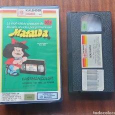 Cine: VHS - MAFALDA DE QUINO - KALENDER VIDEO - RAREZA INENCONTRABLE. Lote 198981913