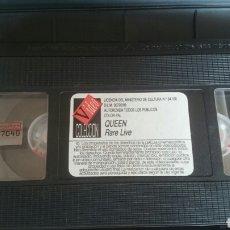 Cine: VHS QUEEN RARE LIVE. SIN CARATULA. Lote 198982523