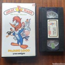 Cine: VHS - EL PAJARO LOCO Y SUS AMIGOS. Lote 198983778