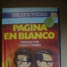 Cine: VHS PAGINA EN BLANCO. Lote 199106182