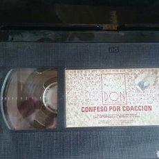 Cine: VHS CONFESO POR COACCION, SIN CARATULA. Lote 199107446