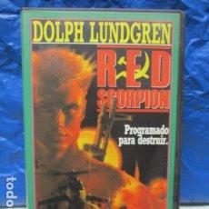 Cine: VHS - RED SCORPION - CON DOLPH LUNDGREN.. Lote 199420520