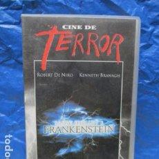 Cine: VHS - PELICULA FRANKENSTEIN DE ROBERT DE NIRO. Lote 199421157