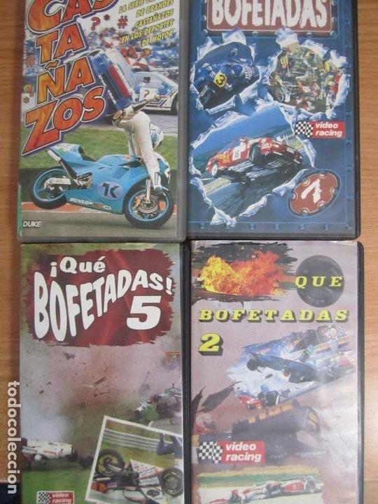 LOTE 4 VHS MOTOR VIDEO RACING QUE BOFETADAS 2,5 Y 7 CASTAÑAZOS (Cine - Películas - VHS)