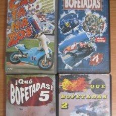 Cine: LOTE 4 VHS MOTOR VIDEO RACING QUE BOFETADAS 2,5 Y 7 CASTAÑAZOS. Lote 199463810