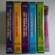 Cine: COLECCIÓN VHS TOUR DE FRANCIA MIGUEL INDURAIN. Lote 199987251