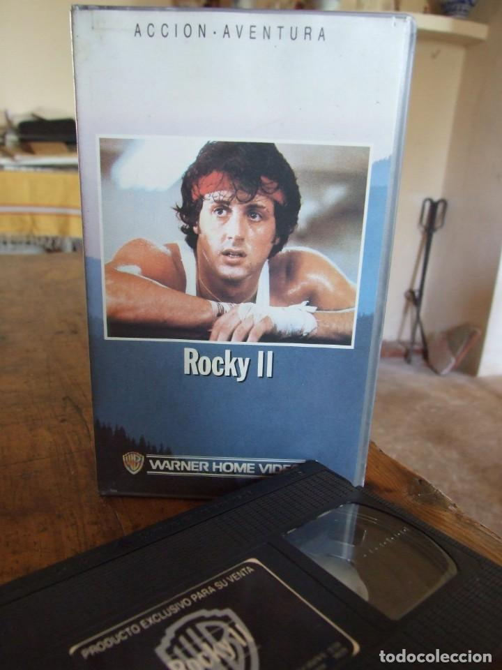 ROCKY II 2 - SYLVESTER STALLONE , TALIA SHIRE , CARL WEATHERS - WARNER 1988 (Cine - Películas - VHS)