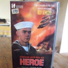 Cine: DEMASIADO JOVEN PARA SER HEROE - BUZZ KULIK - RICKY SCHRODER - IF 1988. Lote 200559187
