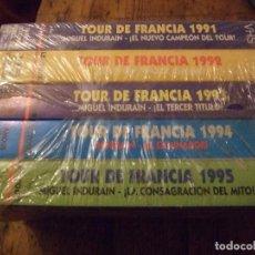 Cine: SAGA TOUR DE FRANCIA MIGUEL INDURAIN 1991-1995 - LE TOUR PRECINTADO. Lote 201169683