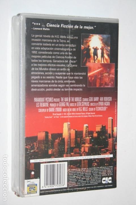Cine: LA GUERRA DE LOS MUNDOS (Gene Barry, Ann Robinson)** VHS CIENCIA FICCION THRILLER (PRECINTADO) - Foto 2 - 201226395