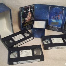 Cine: ANTIGUA TRILOGIA STAR WARS VHS. Lote 201351411