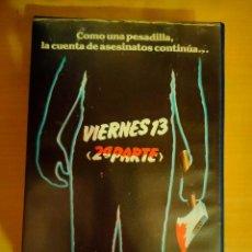 Cine: VIERNES 13, 2ª PARTE (STEVE MINER, 1981) VHS - TERROR - 1ª EDICIÓN. Lote 103581619