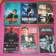 Cine: BLADE, ARMA LETAL, JOHN WOO (4) ** LOTE 6 PELÍCULAS VHS CINE NEGRO / THRILLER / ACCIÓN. Lote 202522836