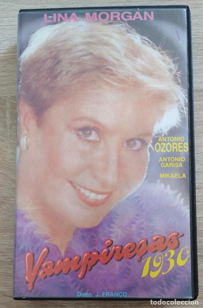 VHS - VAMPIRESAS 1930 - LINA MORGAN, MIKAELA, ANTONIO OZORES, JESÚS FRANCO - JESS FRANK (Cine - Películas - VHS)