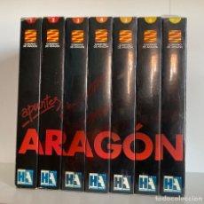 Cine: COLECCION COMPLETA VHS APUNTES ARAGON CON 7 VHS ( 5 SON PRECINTADOS ) AQUITIENESLOQUEBUSCA ALMERIA. Lote 202688727