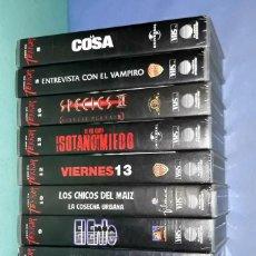 Cine: LOTE DE 10 PELICULAS DE TERROR EN VHS EN MUY BUEN ESTADO ORIGINALES. Lote 202910096