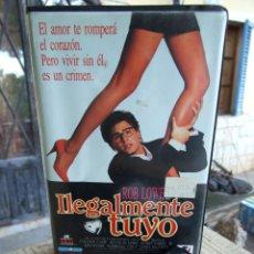 Cine: ILEGALMENTE TUYO - PETER BOGDANOVICH - ROB LOWE , COLLEEN CAMP - RECORD 1989. Lote 203076587