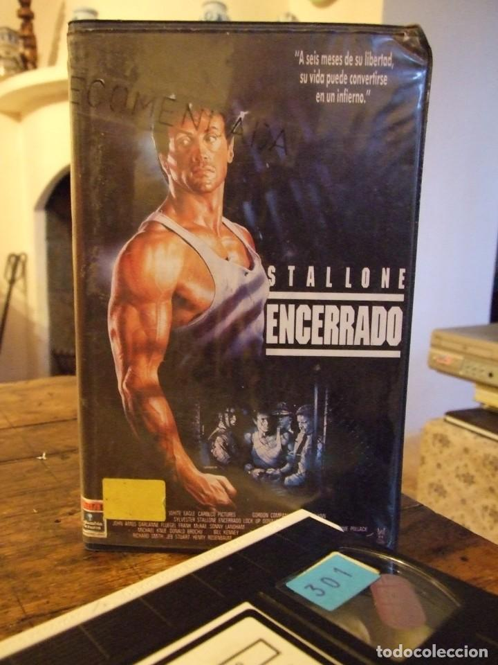 ENCERRADO LOCK UP - JOHN FLYNN - SYLVESTER STALLONE , DONALD SUTHERLAND - RCA 1990 (Cine - Películas - VHS)