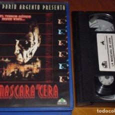 Cine: LA MASCARA DE CERA - SERGIO STIVALETTI, DARIO ARGENTO - TERROR - VHS. Lote 204637650