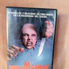 Cine: DREAMANIAC. VHS - DAVID DE COTEAU - SLASHER - TERROR - GORE - (1987). Lote 204841558