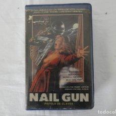 Cine: VHS - NAIL GUN / PISTOLA DE CLAVOS - RAREZA - TERROR. Lote 205456962