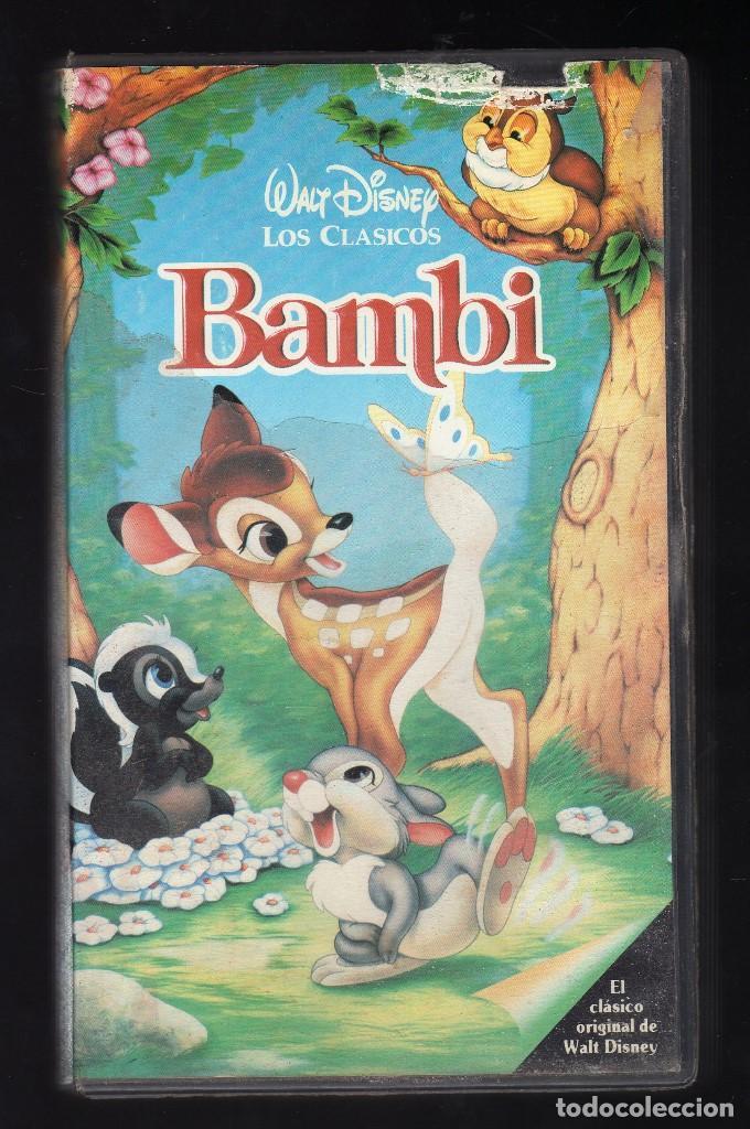 CINTA VHS: BAMBI · WALT DISNEY LOS CLÁSICOS - DURACIÓN: 67 MINUTOS - (Cine - Películas - VHS)