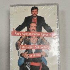 """Cine: VHS PACO AGUILAR, PEDRO REYES Y MARIANICO """"EL CORTO"""" EN DIRECTO TEATRO IMPERIAL SEVILLA 1992. Lote 206460318"""