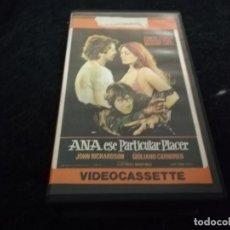 Cine: ANA ESE PARTICULAR PLACER LA SONRISA DEL CHACAL VHS ORIGINAL DOBLE / EDICION UNICA. Lote 206534171