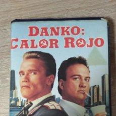 Cinema: VHS - DANKO CALOR ROJO - ARNOLD SCHWARZENEGGER, JAMES BELUSHI - ACCION POLICIACO - 1º EDICION. Lote 206594455