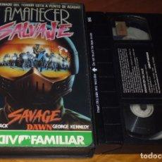 Cine: AMANECER SALVAJE / SAVAGE DAWN - KAREN BLACK , GEORGE KENNEDY - VHS. Lote 206862291