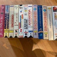 Cine: LOTE DE PELÍCULA DOCUMENTAL VARIADAS VHS. Lote 206887652