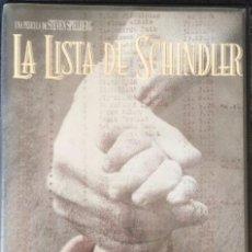 Cine: DOBLE VHS LA LISTA DE SCHINDLER.. Lote 206939595