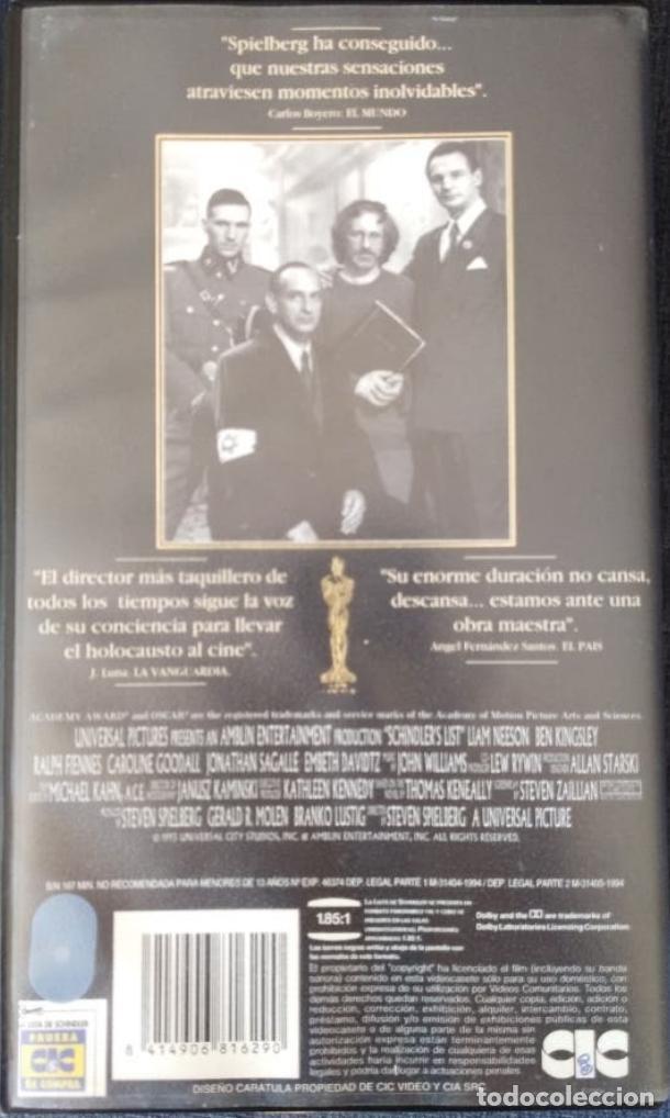 Cine: Doble vhs La lista de Schindler. - Foto 3 - 206939595