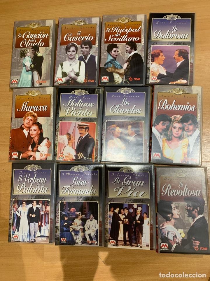 LOTE DE PELÍCULAS VHS ZARZUELAS (Cine - Películas - VHS)