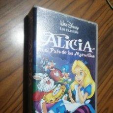Cine: ALICIA EN EL PAIS DE LAS MARAVILLAS. VHS. BUEN ESTADO. Lote 206950351