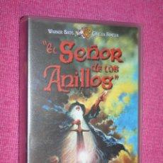 Cine: EL SEÑOR DE LOS ANILLOS (JRR TOLKIEN) * VHS CINE ANIMADO JUVENIL FANTASÍA * WARNER BROS (1998). Lote 207072573