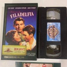 Cine: HISTORIAS DE FILADELFIA PELÍCULA VHS LÍDER EDICIÓN ESPECIAL. Lote 207141878