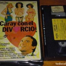 Cine: CARAY CON EL DIVORCIO - ESTESO, ANTONIO OZORES - VHS. Lote 207215493